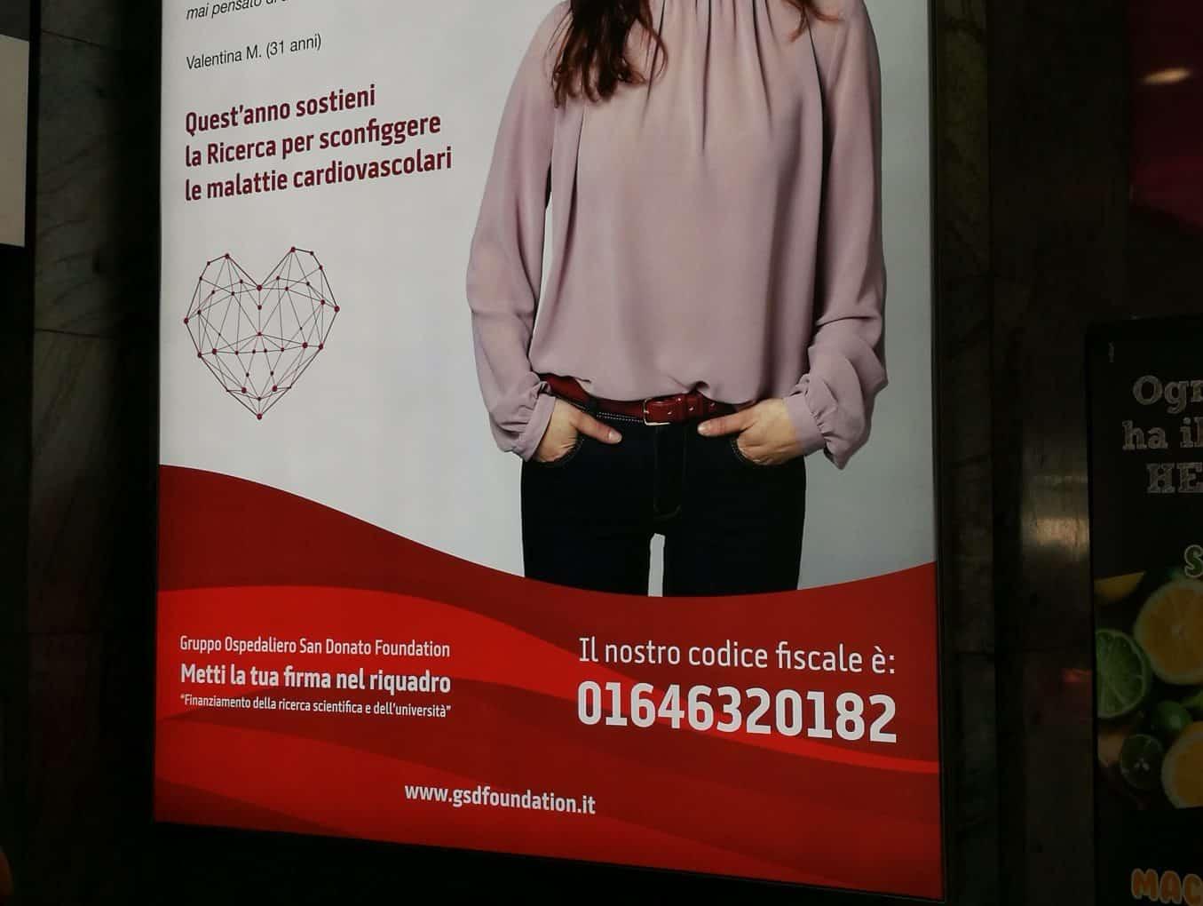 Pannello LED a Milano Cadorna