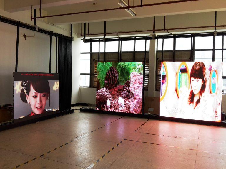 Led screen showroom