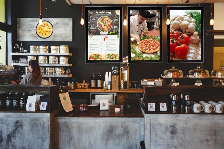 Pannelli lightbox per ristoranti