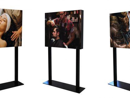 """Totem pubblicitari da interno componibili P2.5: un display """"chiavi in mano"""""""