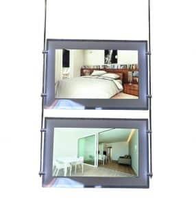 Monitor a cascata per vetrine agenzie immobiliari